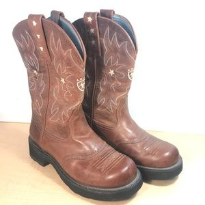 Ariat Women Brown Leather Cowboy Boots